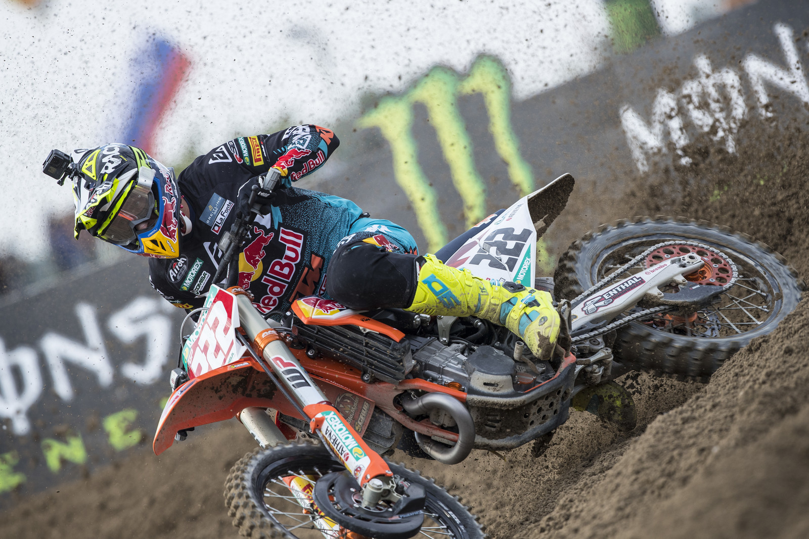 Red Bull KTM's Tony Cairoli is continuing his domination of the 2019 MXGPs, going 1 - 1 for the overall victory. The only way to stay clean at this race was to get the holeshot and run away with it.