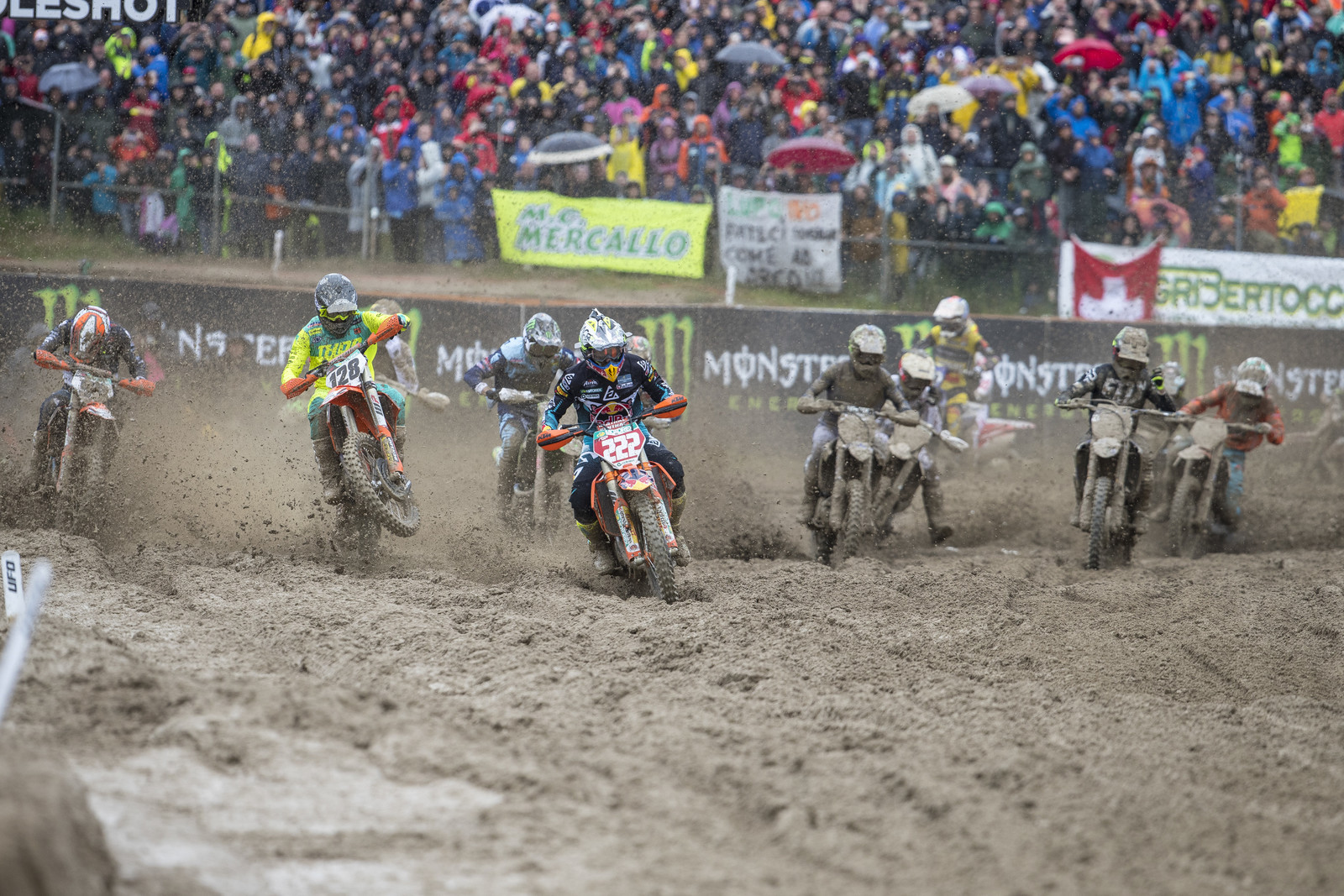 But the actual racing on Sunday was a sloppy mess. No wonder the MXGP guys can ride so well in horrible conditions.