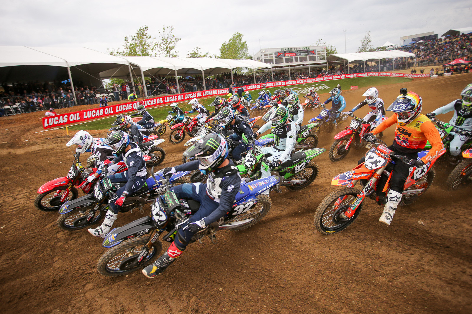 Justin Cooper got his season off to a good start with a holeshot in moto one.