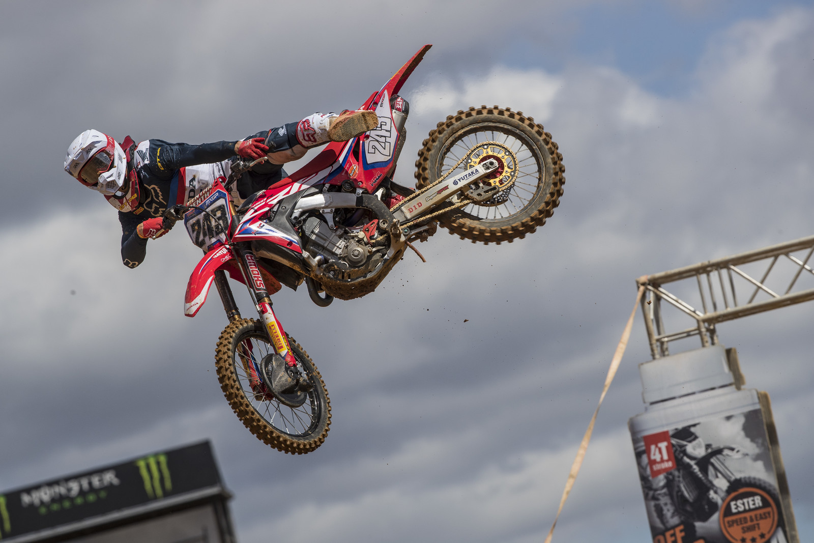 Finally, Honda HRC rider Tim Gajser had a mistake free weekend to go 1 - 1 for the top step of the podium. But that doesn't mean that Cairoli made it easy.