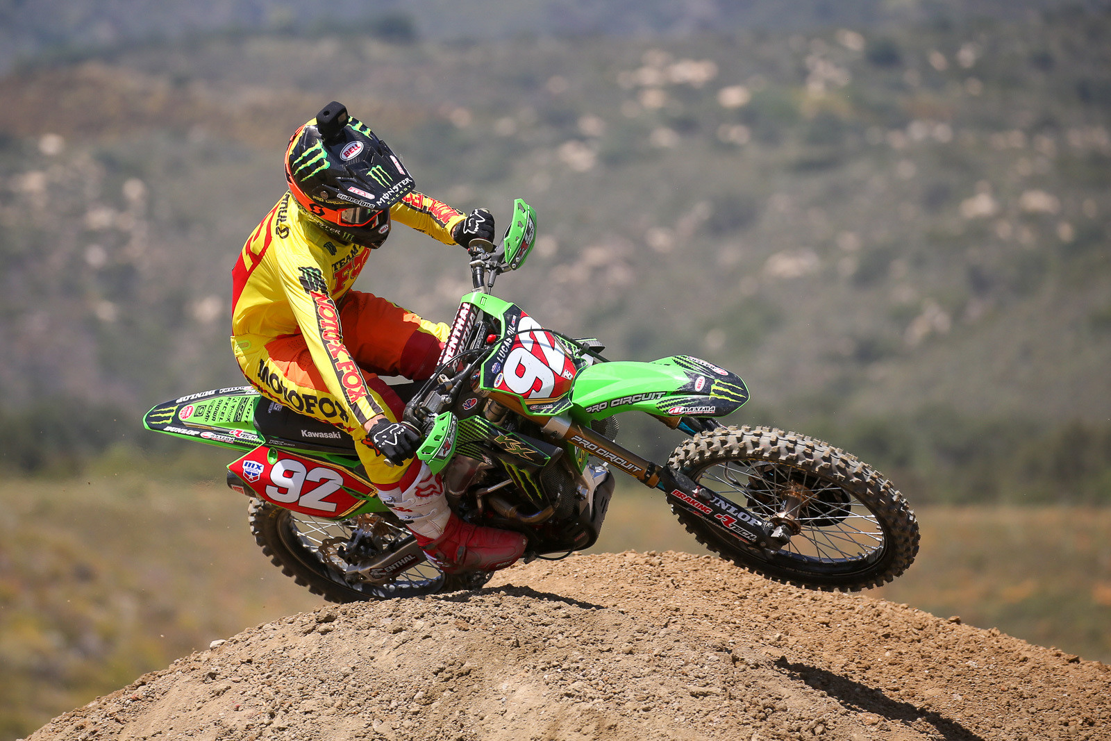 Adam Cianciarulo in the new gear.