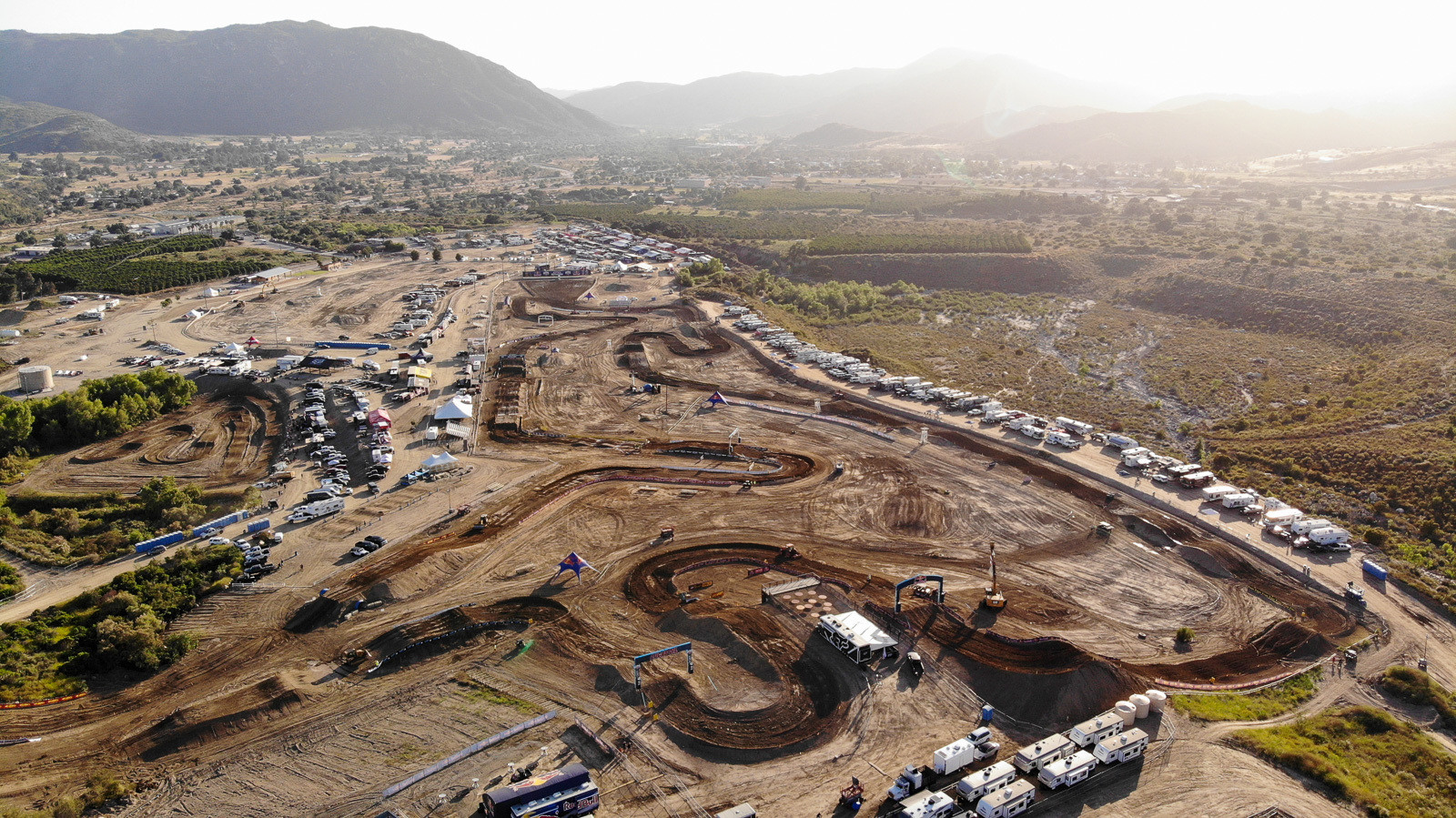 Overview of Fox Raceway on Friday afternoon, before the fans arrived.
