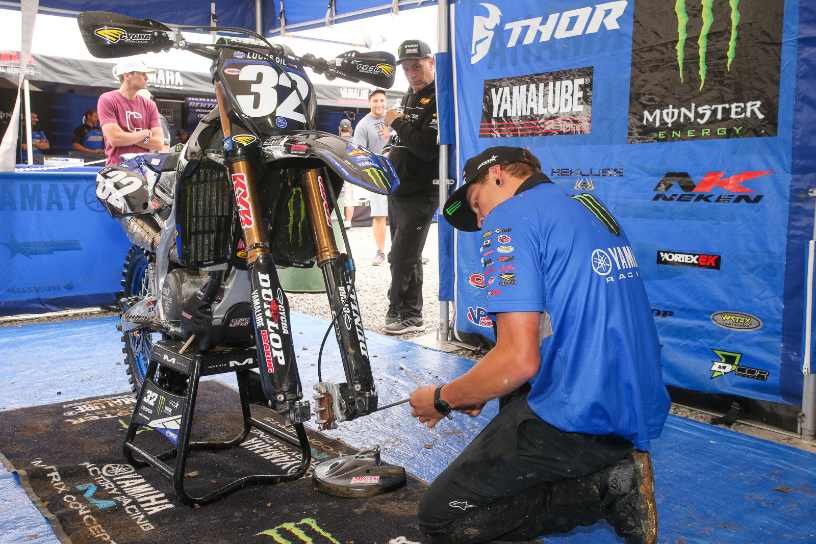 Justin Cooper and the Yamalube Star Racing Yamaha team made a rather big setup change this week, but he quickly decided after practice that it might not be the direction that he wanted to go, and they went to work to get back to his base setting.