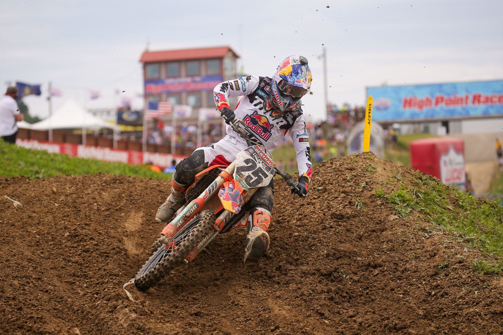 Marvin Musquin was fourth in moto one, and had an amazing ride in moto two to get back to seventh after a crash.