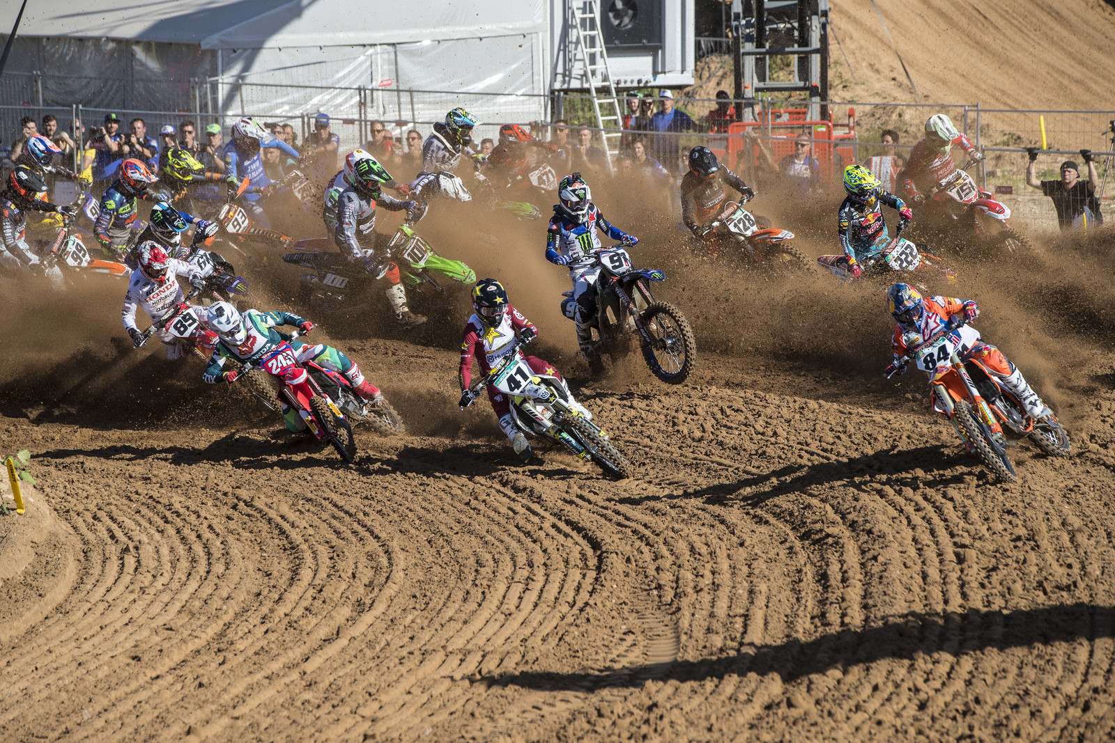 The Latvian MXGP was another pretty sandy track on the international circuit.