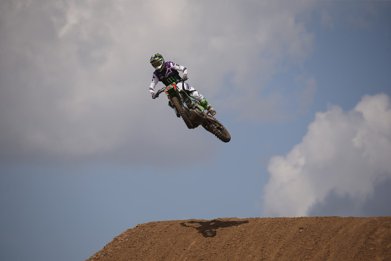 Eli Tomac looked like a different rider in the second moto and took the win fairly comfortably.