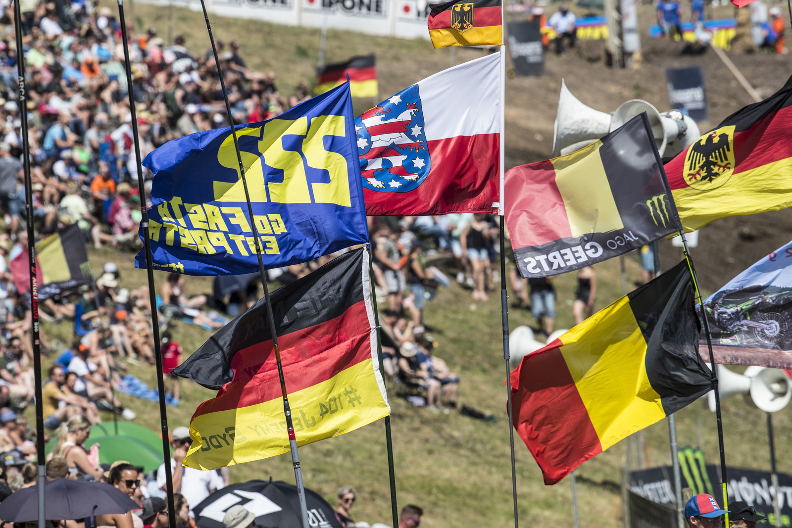 Even though Cairoli was missing in Germany because of a shoulder injury suffered last weekend, his fans were still supporting him. It is unknown when he's returning to racing.