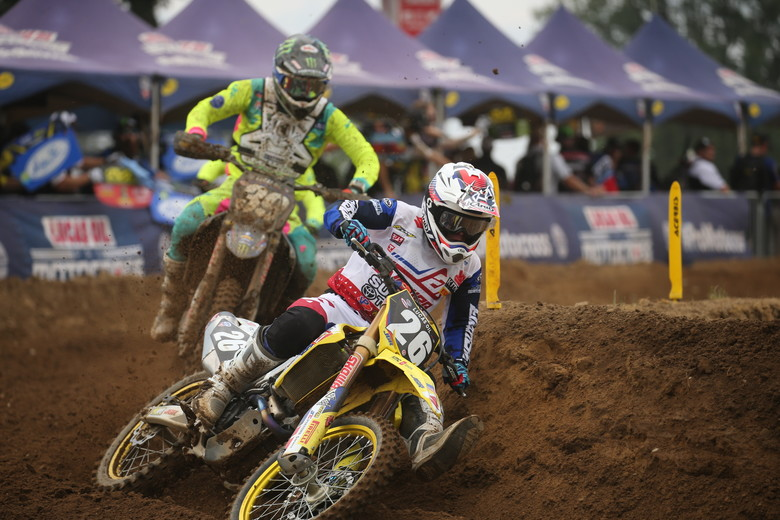 Alex Martin got redemption in Moto 2 with a third place finish.