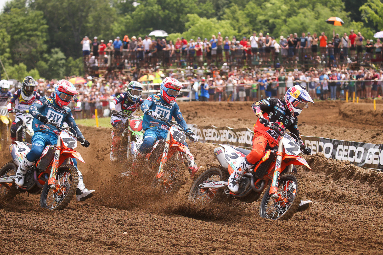 Hot on Coop's tail were Justin Bogle and Blake Baggett.