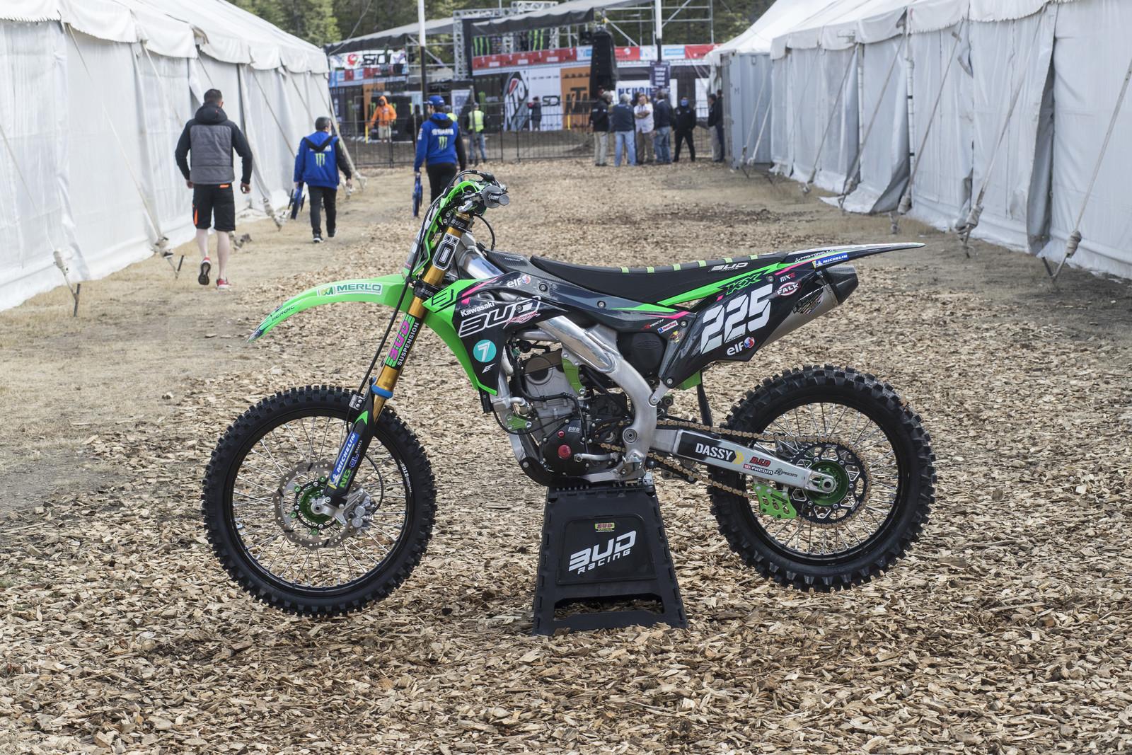 Here's a look at Bud Racing Brian Moreau's Kawasaki KX250