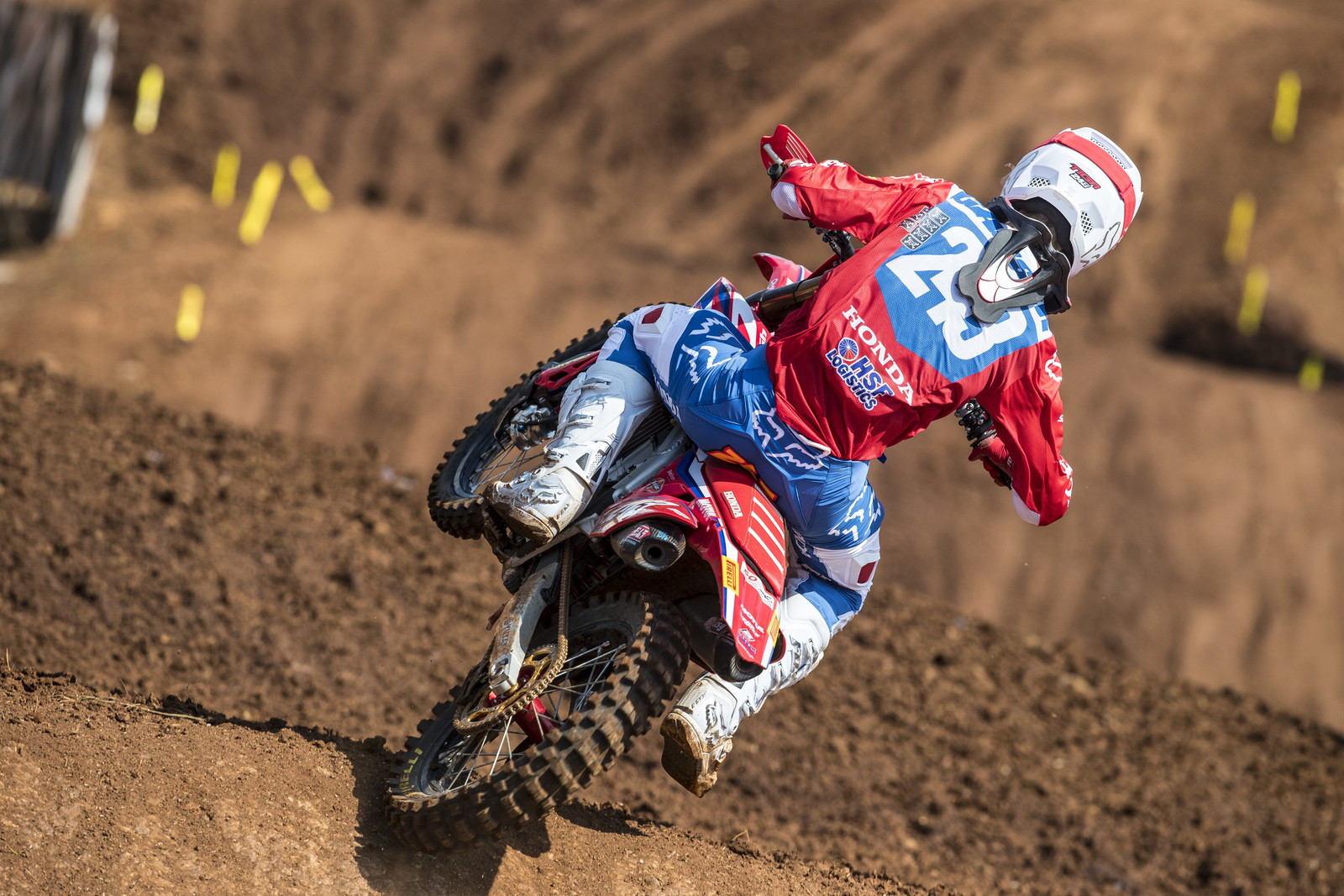 Tim Gajser: I was having fun on both days this weekend. Unfortunately yesterday I had a crash in timed practice and I hurt my right ankle a little bit, but other than a bit of pain yesterday, it was certainly a great weekend again. In the first moto I had a great start, taking the holeshot and leading the whole race. In the second one, I started third and made quick pass, and then made another one a bit later in lap one before making a gap to control the race. I was really having fun out there although the track was a little slippery in some places, but I still got two moto wins so I can't complain! I'm trying not to put pressure on myself on each weekend and I know if I can have fun, I can ride really fast and that seems to be working right now. It is also an honour to have the biggest win-streak for a Honda rider in world motocross, a lot of really talented riders have ridden on this great brand and it is amazing to have achieved this. I hope I can keep it going for as long as possible, and I must also thank Team HRC for helping me out so much and giving me all the support I need in order to do this.