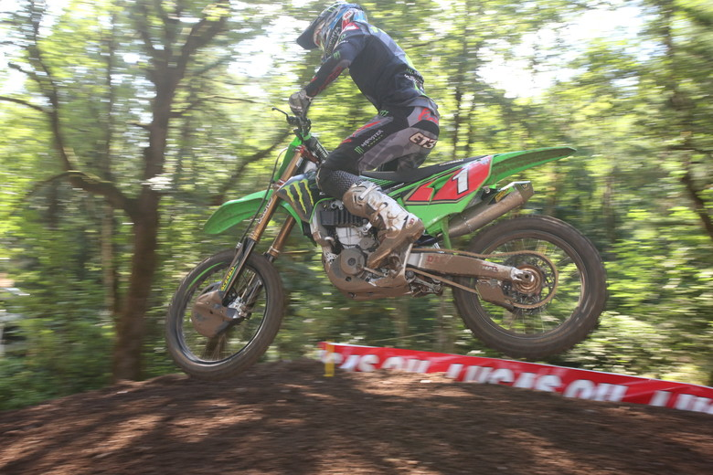 ...but he couldn't hold off the hard charging Eli Tomac.