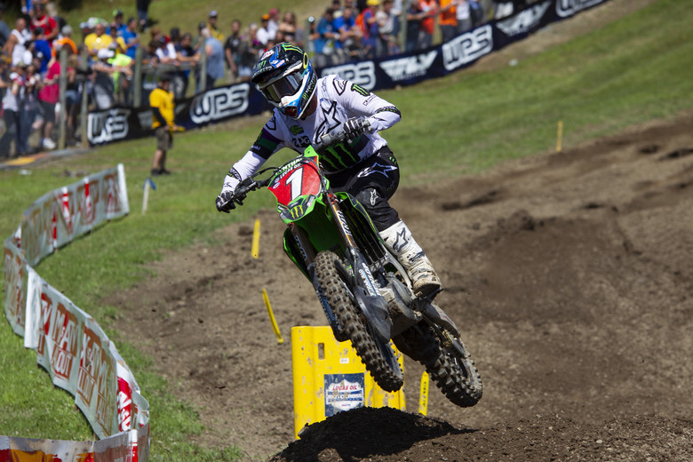 Eli Tomac was better in the second moto, but third place was the best he could do.