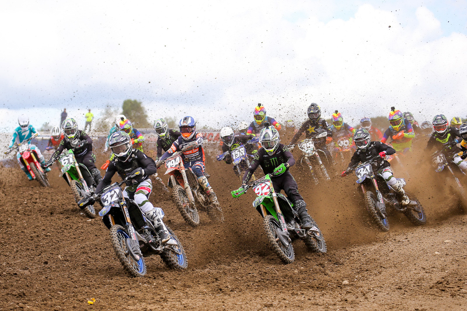 After the presentation, Justin Cooper went out and nabbed the holeshot...though he slipped back in the pack a bit and ended up with a 4-4 score for the day.