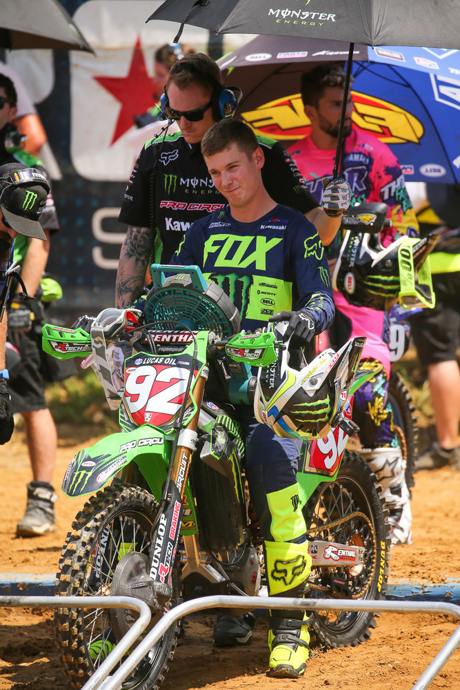 Adam Cianciarulo looked cool, calm, and collected as he closes in on a 250 National Championship.