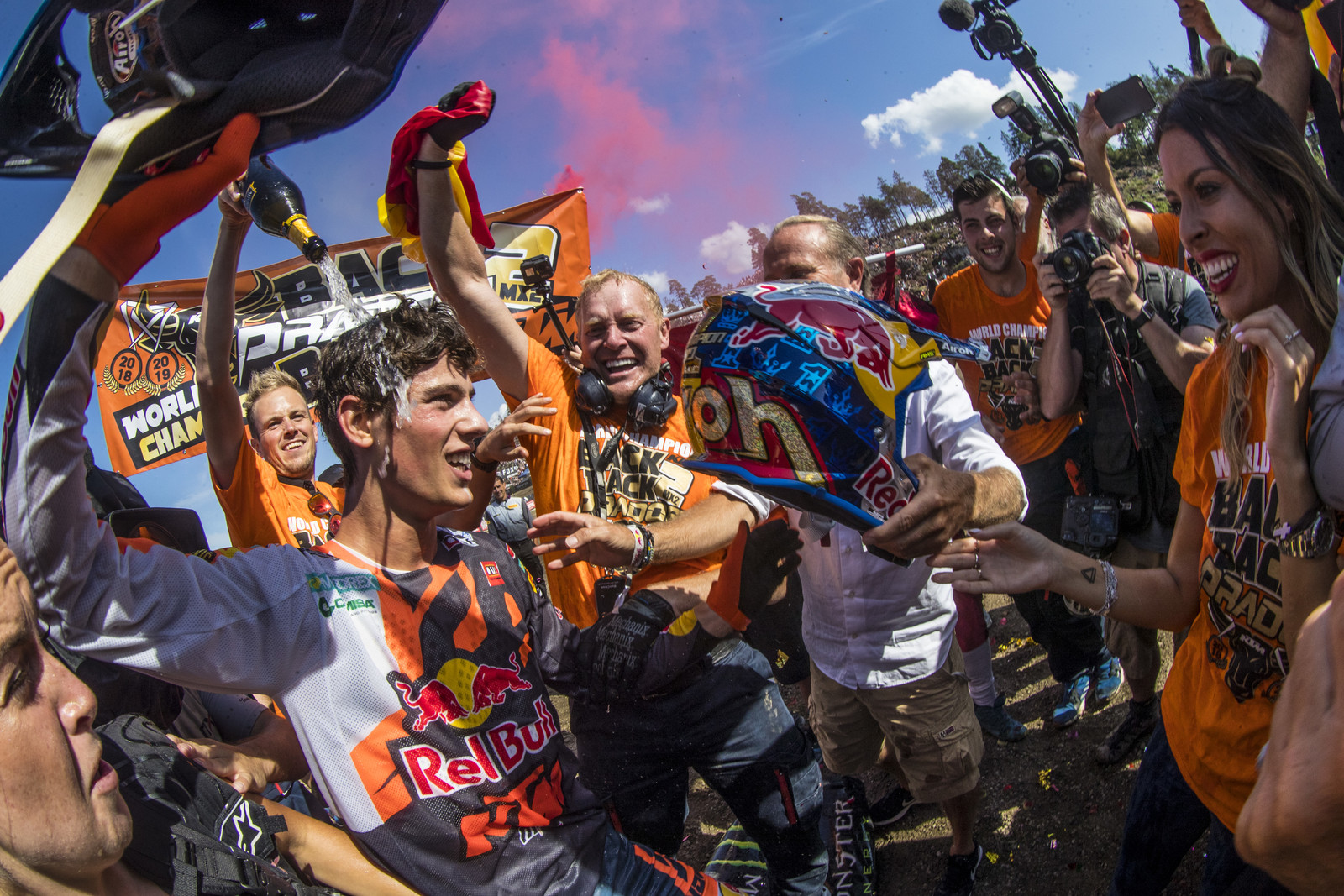 His season was pretty amazing and while he went 1 - 4 for third overall in the Swedish GP, going 1 - 1 at 12 of the races this year so far proves his domination in the MX2 class.