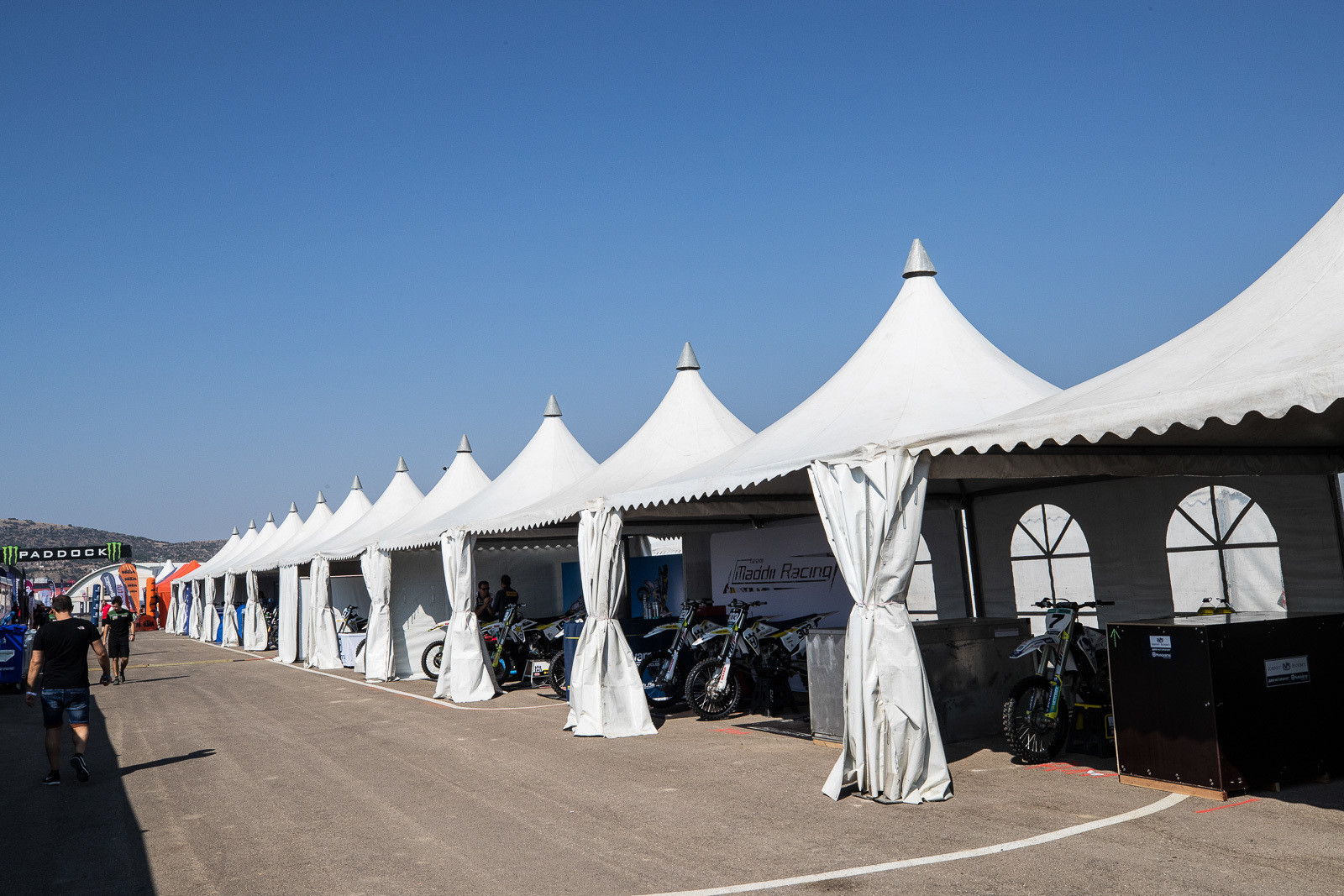 With the riders already headed to China the following weekend, the teams were packed to travel, and the paddock had a bit of a different setup in Turkey. These tents helped keep the sun off the riders and crews.