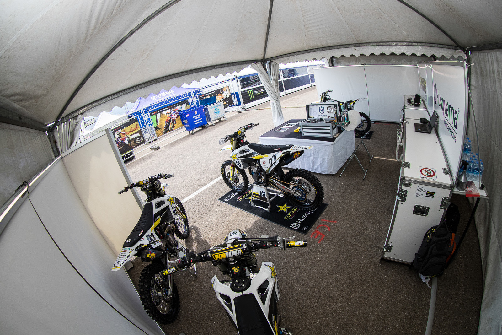Here's the setup for the Rockstar Energy Husqvarna Factory Racing squad.