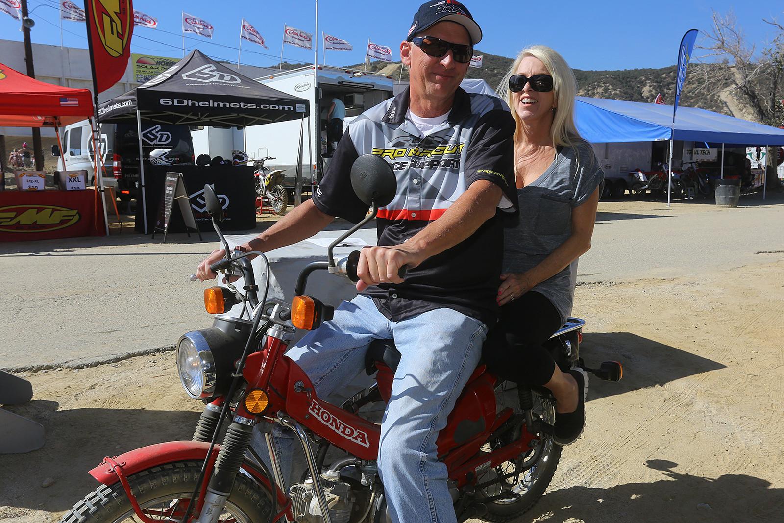 Bones with his wife, Debbie.
