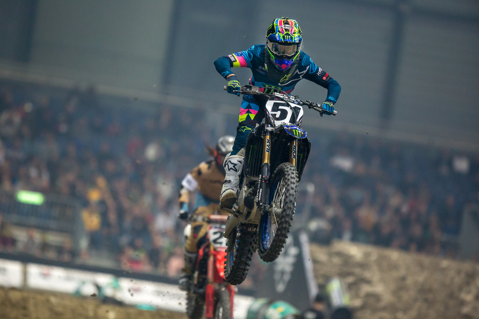 Justin Barcia has looked strong in the offseason races he has attended, and he's looking good here, too.