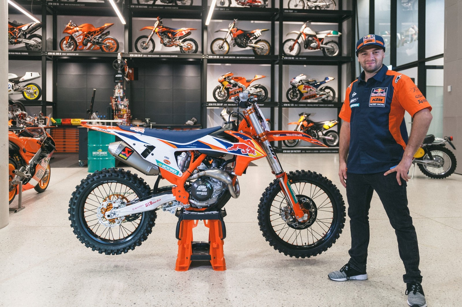 Cooper Webb and his KTM 450 SX-F Factory Edition
