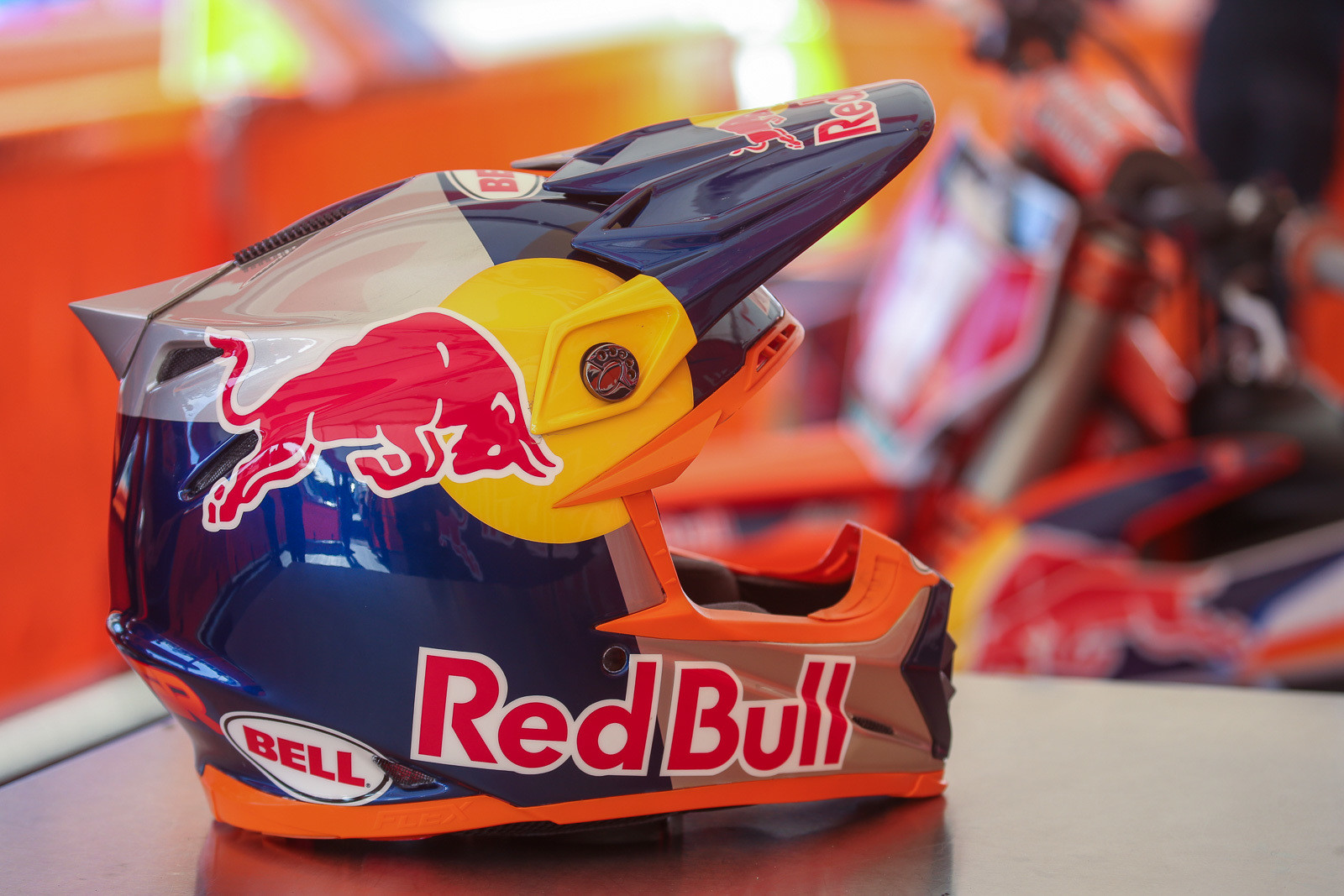 "Like at the Red Bull Straight Rhythm, Cooper is running the ""modern"" fin on his Bell Moto 9 Flex. These are 3D printed, pop off easily in a crash, and will be on his helmet throughout the season."