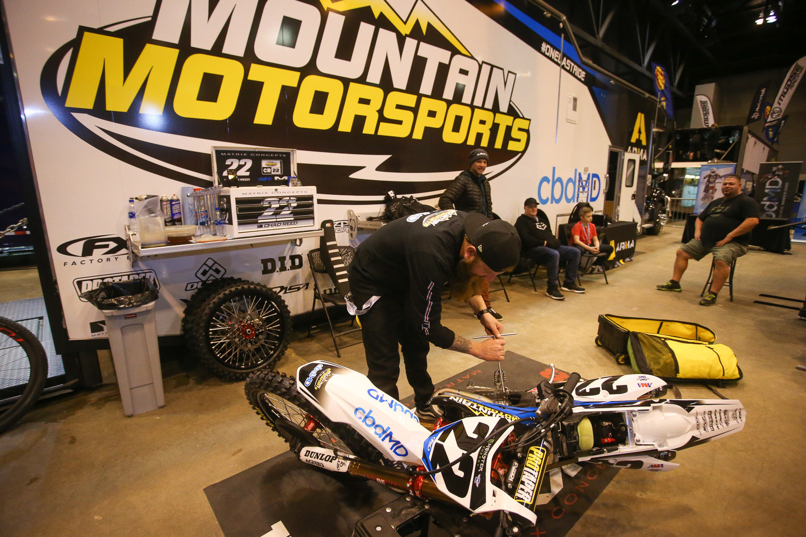 If you want in on some first class heckling and smack-talking, stop by the Mountain Motorsports rig on Friday afternoon before a race.