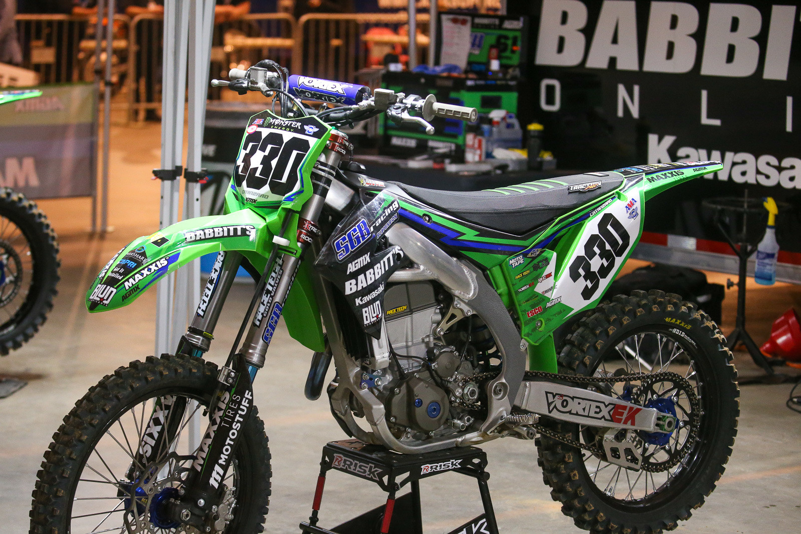 AJ Catanzaro's SGB/Maxxis/Babbit's Kawasaki. He and Alex Ray are teamed up this season.