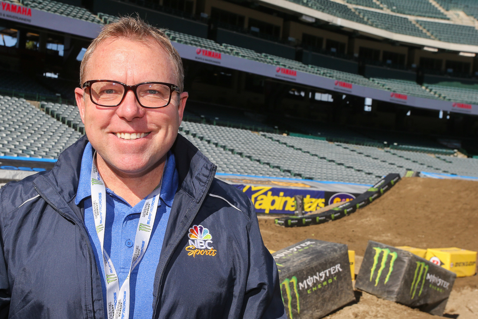 This will be the last Supercross for Leigh Diffy. Next week he'll head to Daytona for the Rolex 24. Then he'll have a mix of Indycar, sports cars, Rugby, track and field, and later in the year the Olympics.