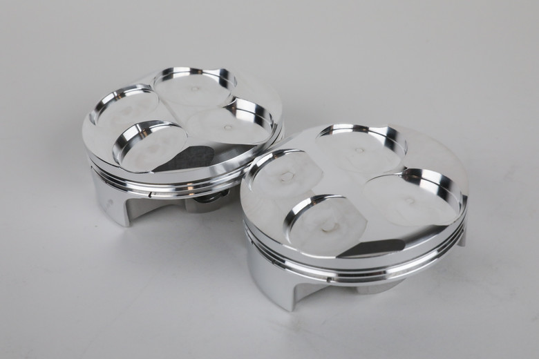 JE's pistons all start with the forging design. Different forging designs must be made to accommodate different piston styles while maintaining key features.