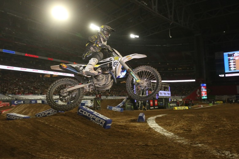 Jason Anderson finished the night with a podium finish.
