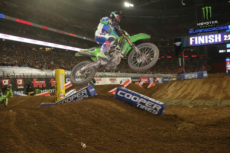 Adam Cianciarulo crashed hard in the whoops towards the end of the race. We hope he's okay.