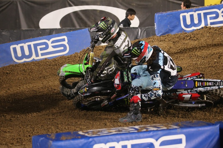 Dylan Ferrandis made several pass attempts on Austin Forkner before finally getting the job done with a handful of laps remaining.