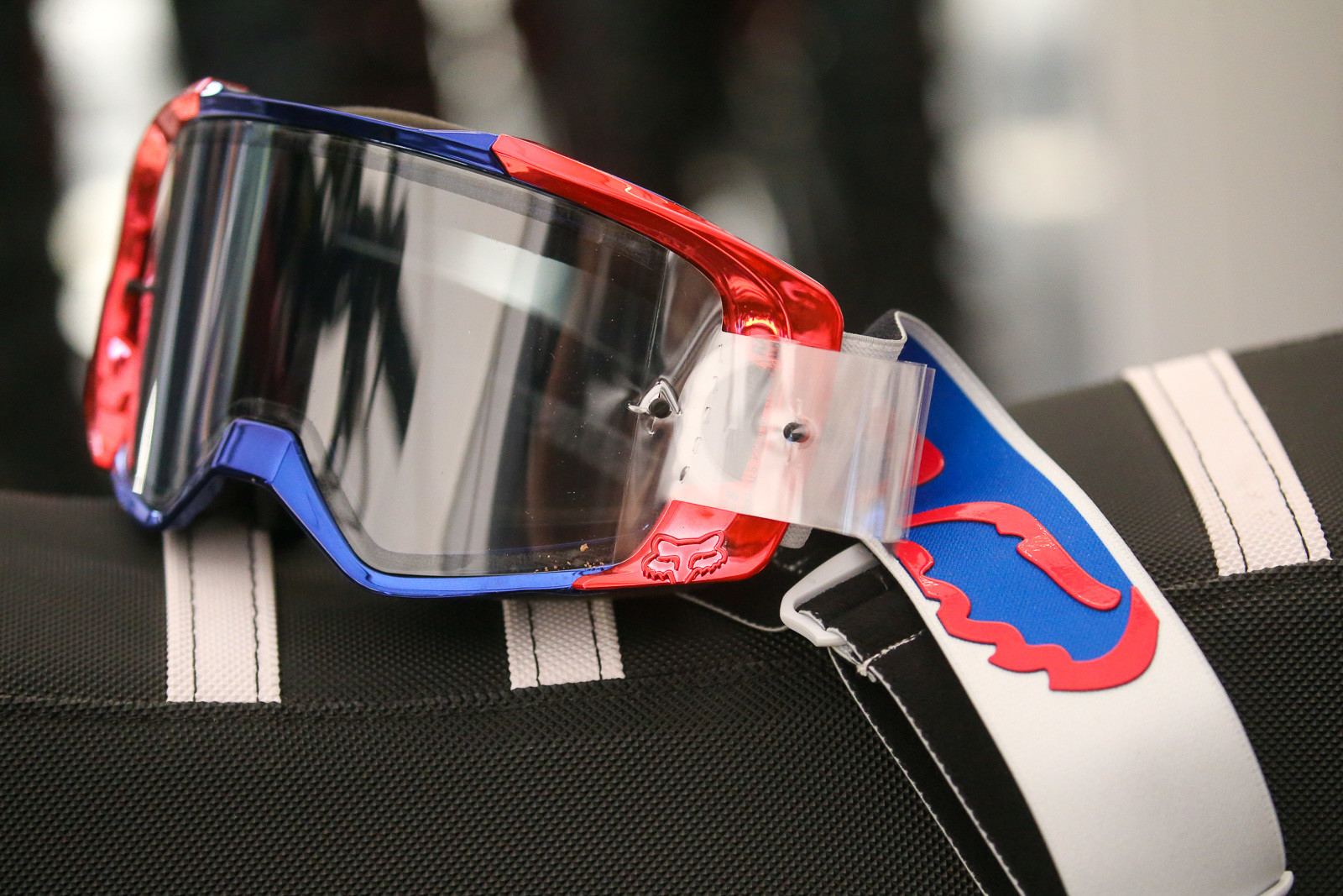 Fox did some patriotic chromed goggles for Adam Cianciarulo and (we think) Ken Roczen.