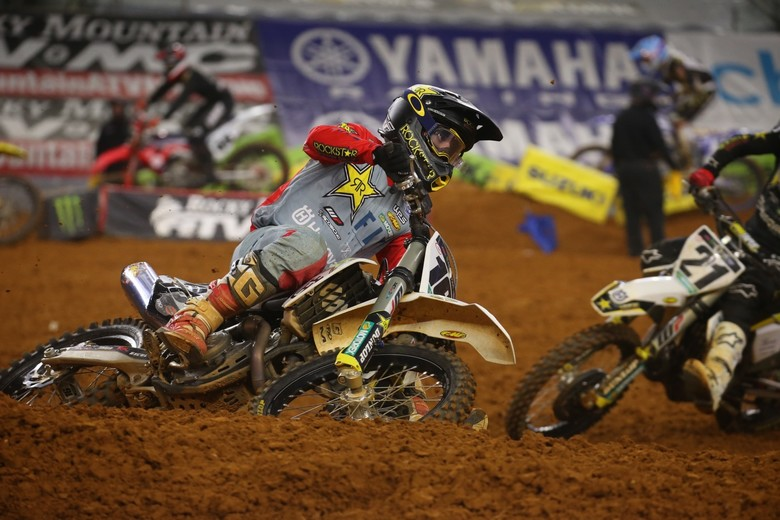 Zach Osborne took the early lead, but he was eventually passed by Jason Anderson.
