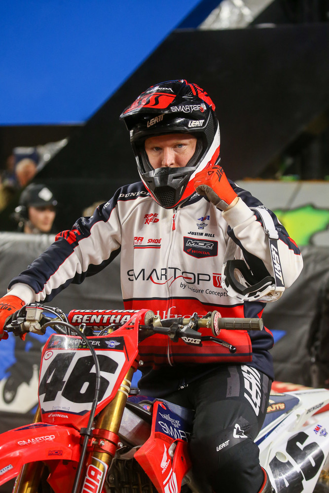 Pow. Biggest Mover total for the three motos? Justin Hill, with a +20.