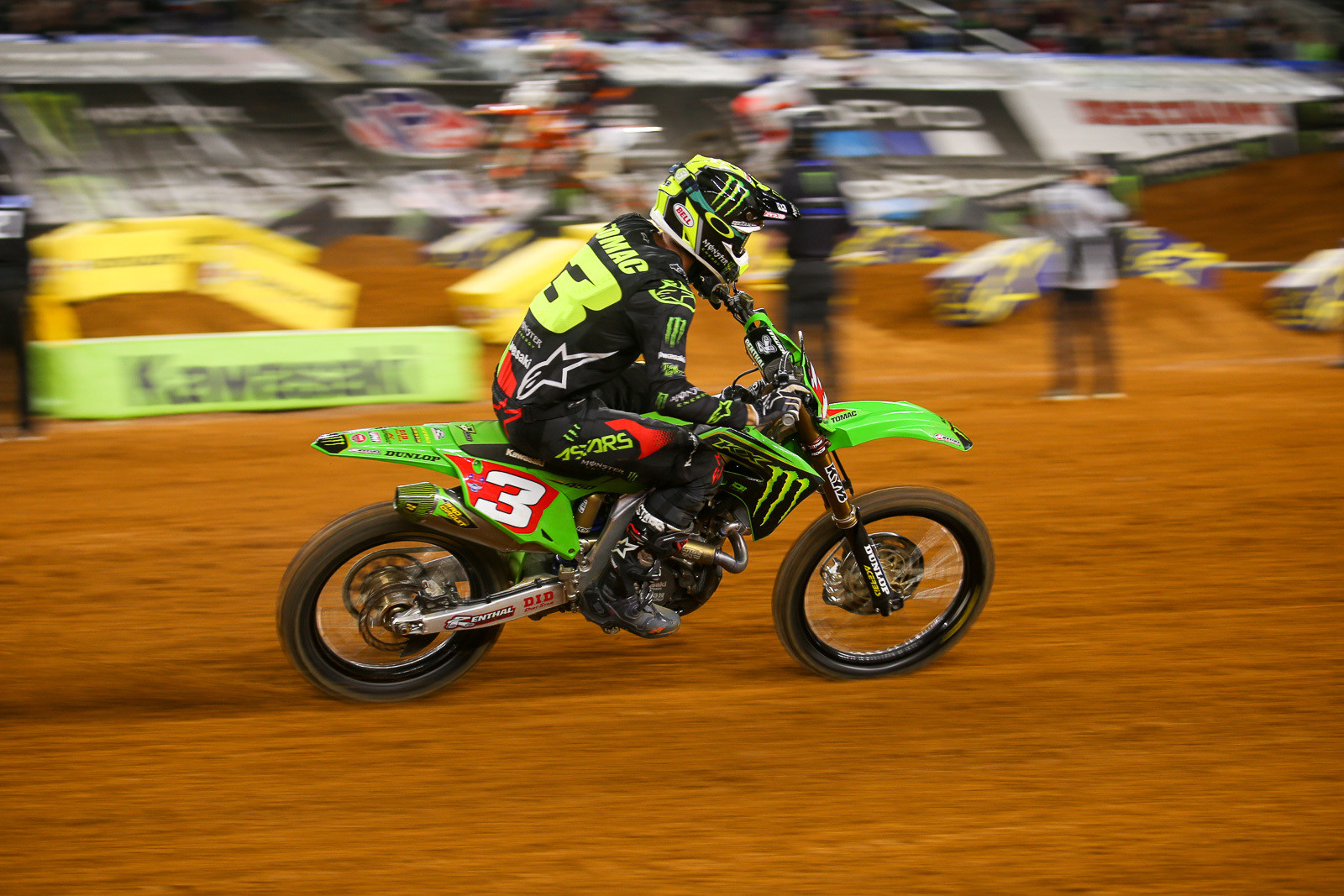 Eli Tomac had no easy path to the overall win, moving up a total of 13 spots during the night.