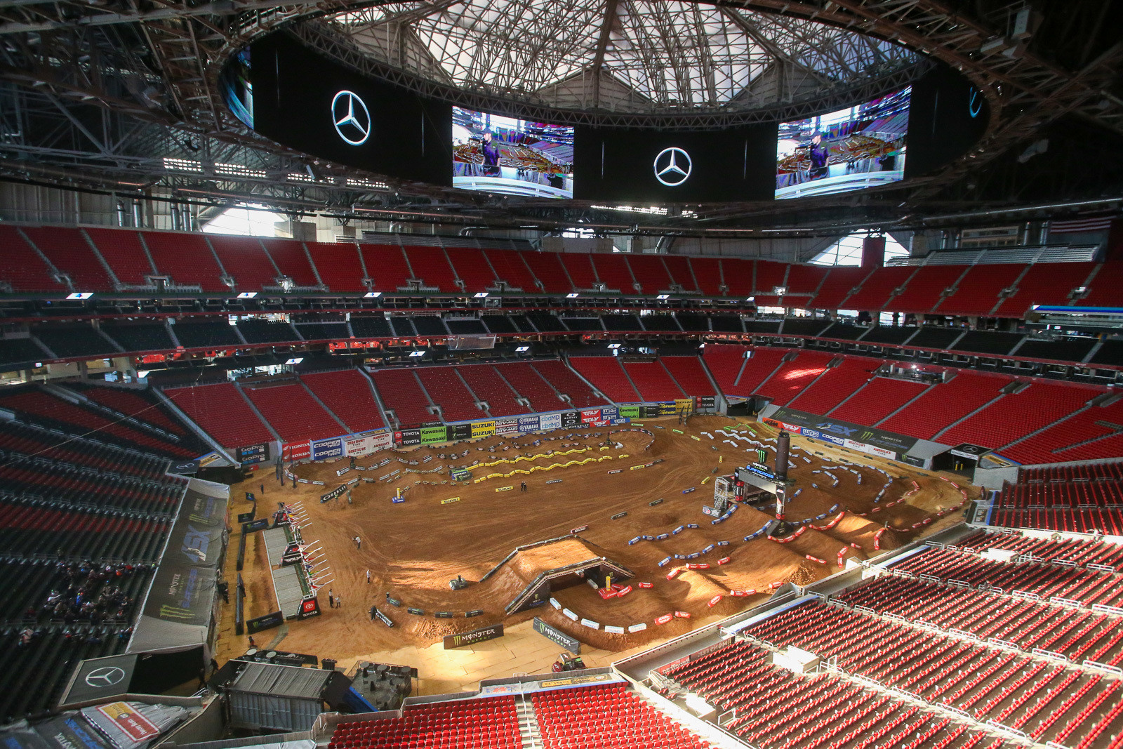 The stadium is a tough act to follow, but Mercedes-Benz Stadium in Atlanta is pretty cool in its own right.
