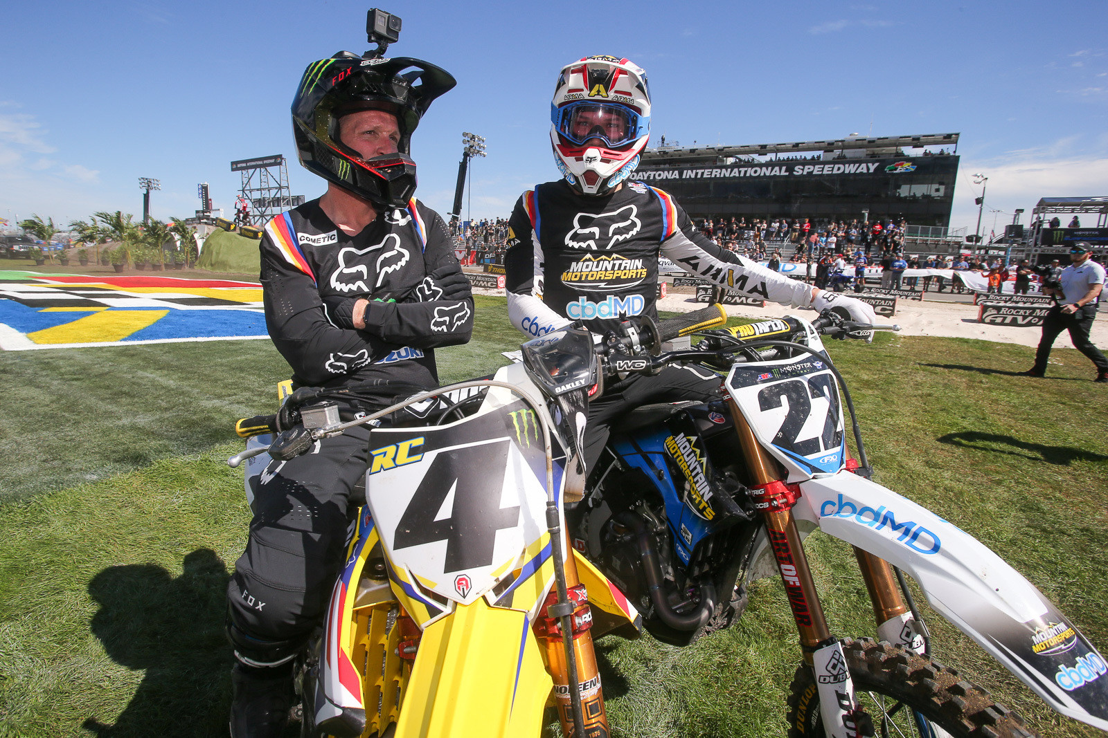 Remember when these two used to battle? Once again, Ricky Carmichael designed this weekend's track at Daytona, and it features both modern sections, plus elements that are more retro-styled.
