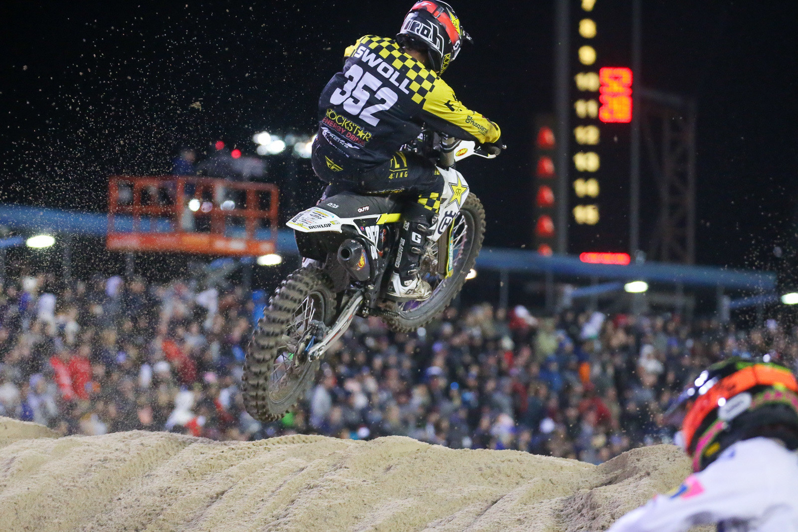 There were a trio of riders who advanced five spots in the main, including Jalek Swoll (he was ninth)...