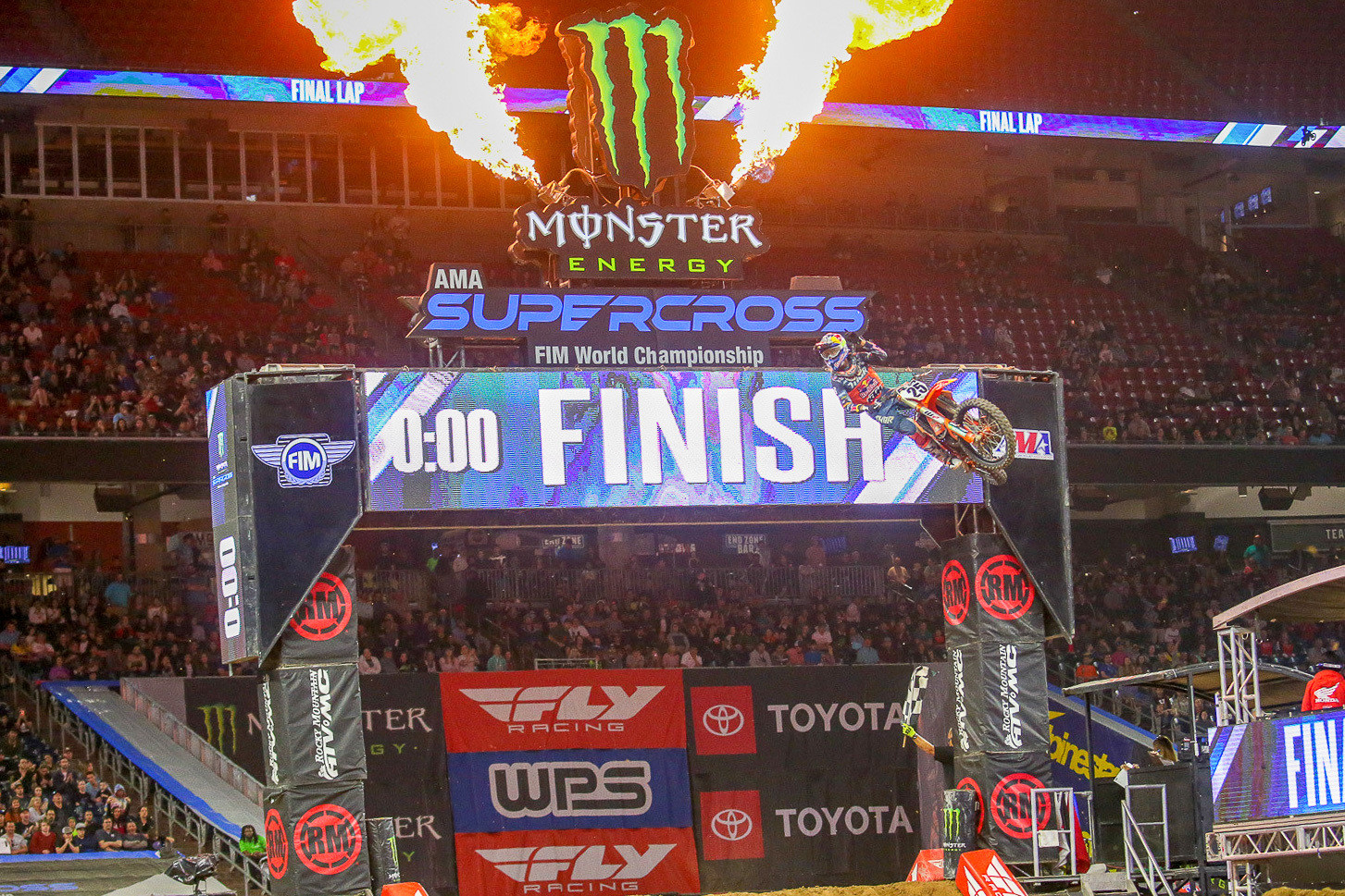 Marvin Musquin bounced back with a win in the final of the three motos.