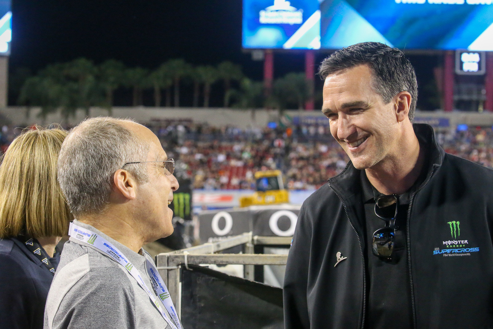 That's Dave (right), with Kenneth Feld earlier this season in Tampa.