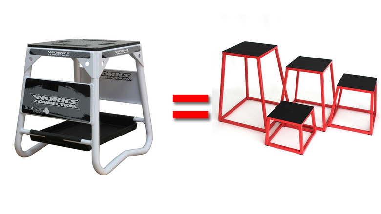 Bike stand = Plyometric box