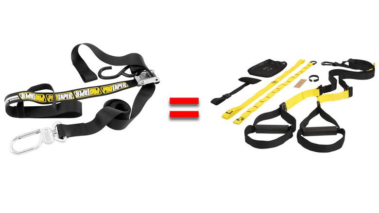 Tie-downs = TRX straps