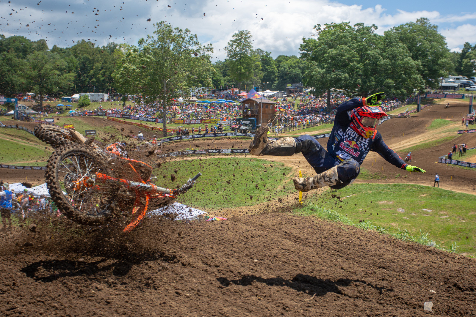 This was such an odd crash for Alex Martin at Muddy Creek. He got cross-rutted on a section that rarely produced any crashes.