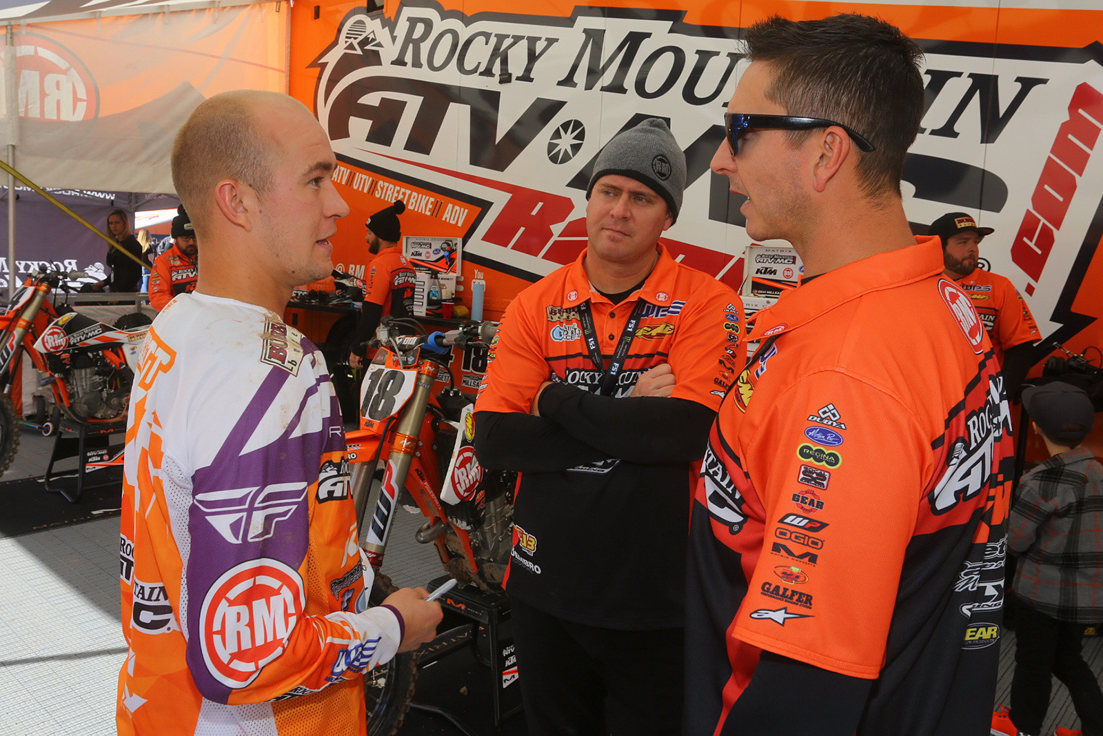 Blake Baggett, Forrest Butler, and Michael Byrne talk strategy.