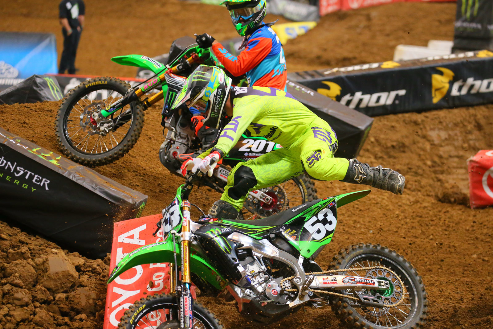 """I'm not sure if Cedric Soubeyras is just watching the show, or had a hand in """"helping"""" Tyler Bowers here."""