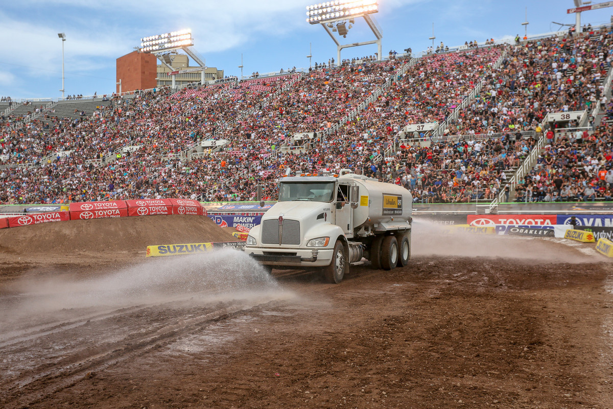 It's dry at elevation and can be windy. I think the track crew will have their hands full keeping the dirt prime.