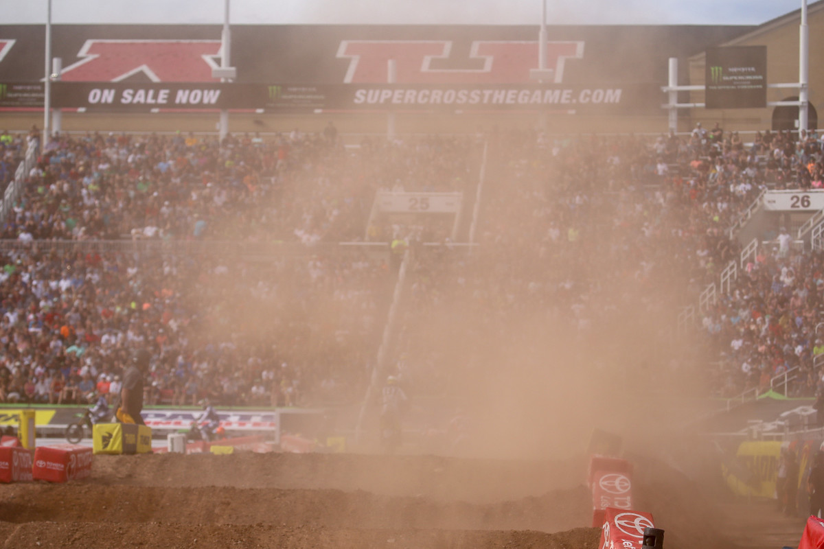 Last time there was quite a bit of dust...