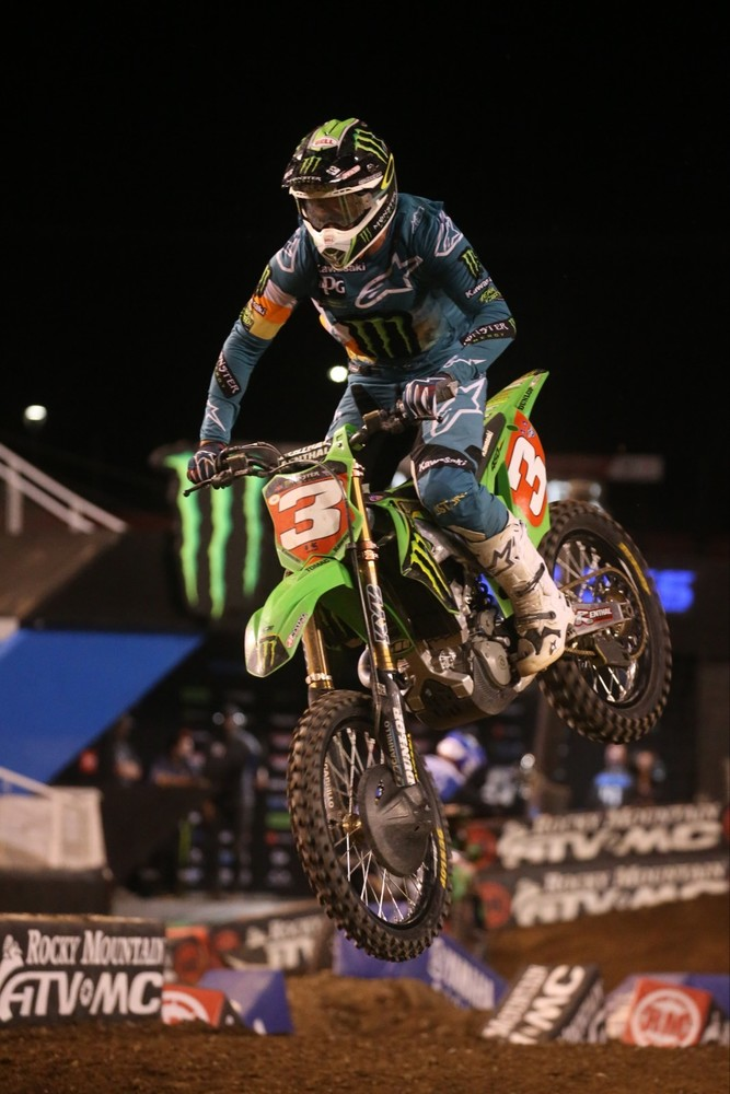 Eli Tomac crossed the line in second place.